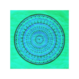 Wheel mandala canvas print