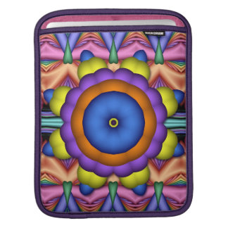 Wheel of adventure, artistic fractal iPad sleeve