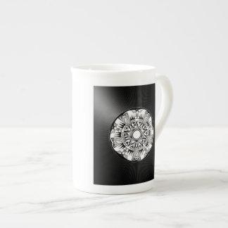 'Wheel of Black Sunshine' Bone China Mug