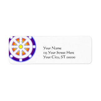 Wheel of Dharma Return Address Label
