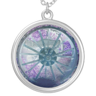 Wheel of Fortune Silver Plated Necklace