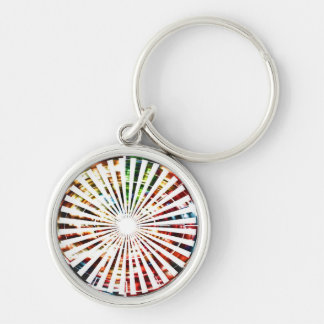 Wheel of Fortune - Sparkle Red Designs Silver-Colored Round Key Ring