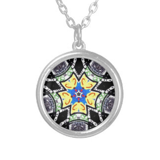 Wheel of grace silver plated necklace