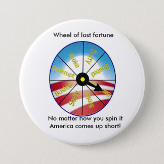 Wheel of lost fortune 7.5 cm round badge
