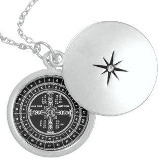 WHEEL OF PYTHAGORAS STERLING SILVER NECKLACE