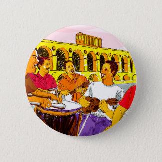 Wheel of Samba - Rio De Janeiro - Brazil 6 Cm Round Badge