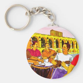 Wheel of Samba - Rio De Janeiro - Brazil Key Ring