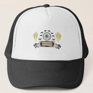 wheel wheat soda springs trucker hat