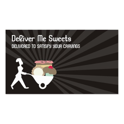 wheelbarrow woman baker giant sweets business c... pack of standard business cards