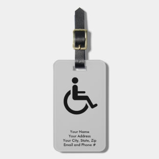 Wheelchair Access - Handicap Chair Symbol Luggage Tag
