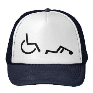 Wheelchair accident trucker hat