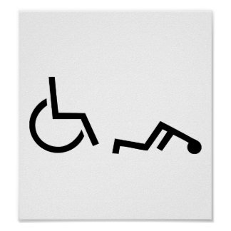 Wheelchair accident poster