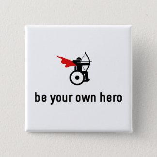 Wheelchair Archery Hero 15 Cm Square Badge