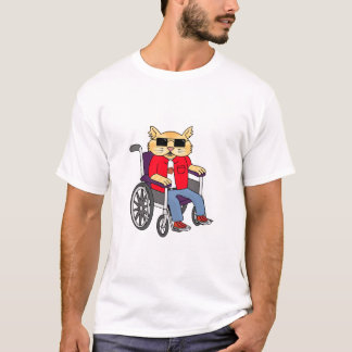 Wheelchair Cat T-Shirt