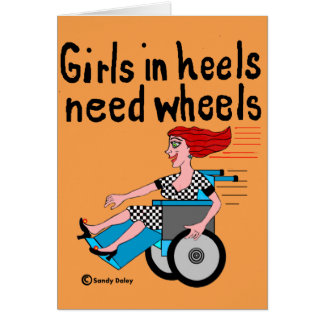 Wheelchair Girl in Heels Card