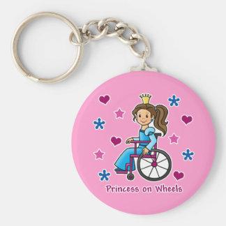 Wheelchair Princess Key Ring