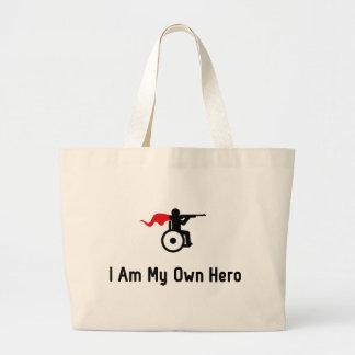 Wheelchair Shooting Hero Jumbo Tote Bag