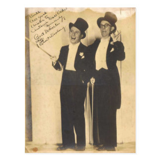 Wheeler and Woolsey Classic Comedy Team Postcard