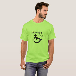 Wheelie in Love (Disabled t-shirt) T-Shirt