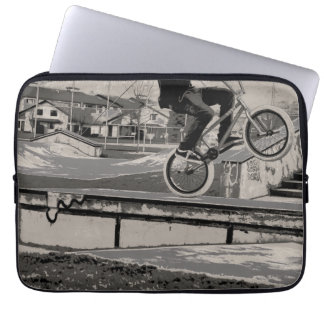 Wheelie Master - BMX Biker Laptop Sleeve