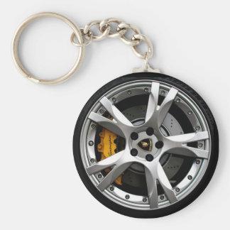 Wheelin Basic Round Button Key Ring