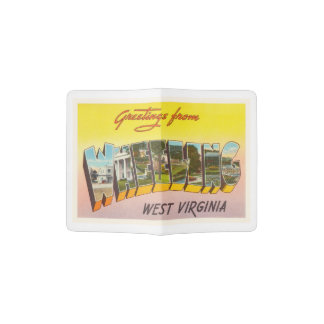 Wheeling West Virginia WV Vintage Travel Postcard- Passport Holder