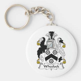 Wheelock Family Crest Key Ring