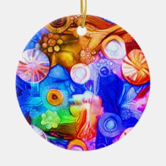 Wheels Ceramic Ornament
