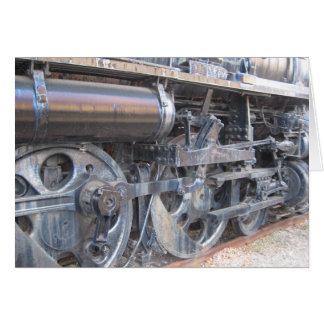 Wheels of a Majestic Iron Horse Railroad Engine Card