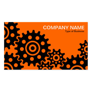 Wheels of Industry - Orange Business Card Templates