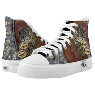 Wheels of Time on Leather Printed Shoes