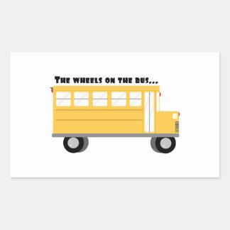 Wheels On Bus Rectangular Sticker