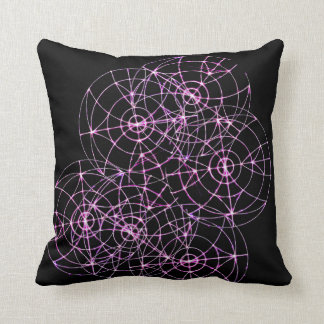 Wheels Spinning Throw Pillow