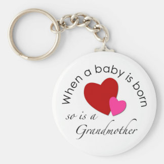 When a baby is born, so is a Grandmother Key Ring