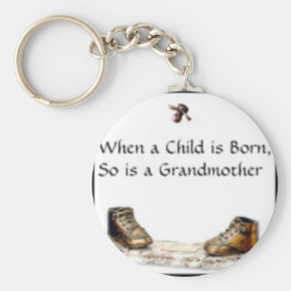 When a Child is born...grandmother Key Ring