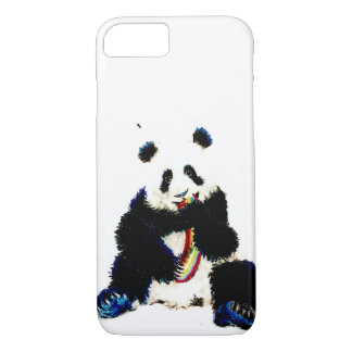 When a panda catches a rainbow... iPhone 8/7 case