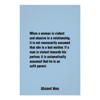 When A Woman Is Violent And Abusive … Poster