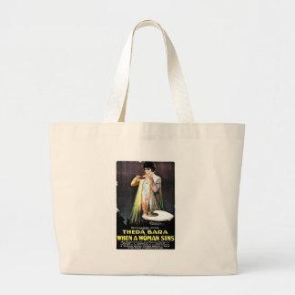 When A Woman Sins Canvas Bag