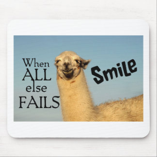 When all else fails Smile Mouse Pad