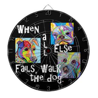 When All Else Fails, Walk the Dog Dartboard