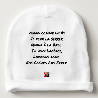 WHEN AS AN ACE I WANT TO TIGHTEN IT, WHEN WITH BA BABY BEANIE