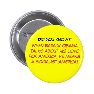 When Barack Obama talks about his love for Amer... 6 Cm Round Badge