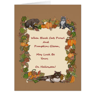 When Black Cats Prowl Card