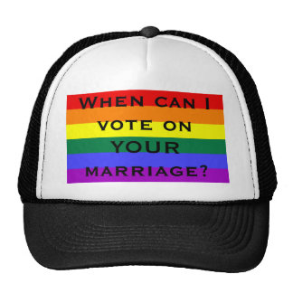 When can I vote on YOUR marriage? Mesh Hats