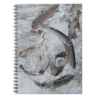 When Conservation Stocks The Lake! Spiral Notebook
