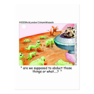 When Cows Ruled Space Funny Gifts Tees Mugs Etc Postcard