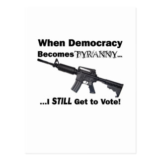 When Democracy Becomes Tyranny Postcards