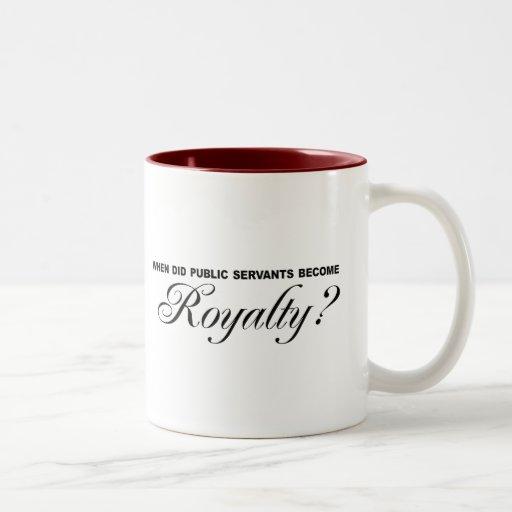 When did public servants become Royalty Mug
