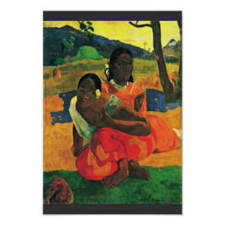 When Did You Marry? (Faa Nafea Ipoipo?) By Gauguin Print