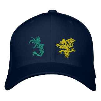 When Dragons Battle Embroidered Baseball Caps